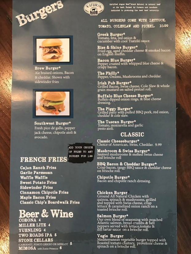 New Gourmet Burger Options at Chip's | Chip's Family Restaurant